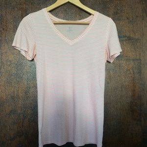 Loft red and white stripe tee.